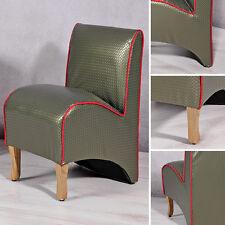 Mini Polster Sessel Esszimmer Stuhl Sitzmöbel Softsessel Relaxsessel grün