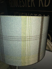 BALMORAL TARTAN CHECK WOOL EFFECT LAMPSHADES BLUE, RED, NATURAL DUCK EGG