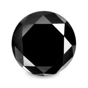 Diamant - Brillant - Schwarz - Rund - 3,40mm - 0,18 Ct. - TOP Qualität