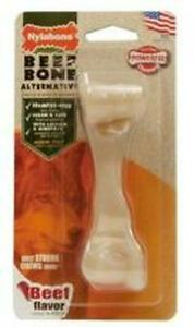 Nylabone Extreme Beef Bone Alternative Mess Free dogs up to 11kg Dog Chew Toy