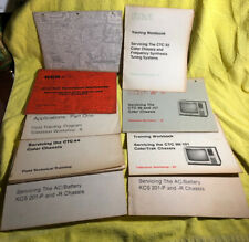 RCA Servicing And Training Workshop Manuals Lot