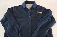 Columbia Womens PFG Tamiami II Long Roll Sleeve Vented Omni Shade Shirt Blue