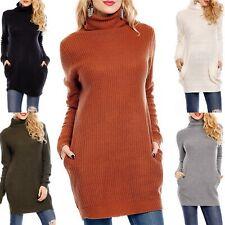 Voyelles Women's Turtleneck Tunic Sweater - S/M