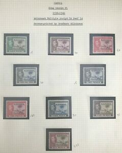 GAMBIA KGVI 1938-46 COMPLETE SET TO 10/- SG 150-161 LMM SG CV £170 (S212)