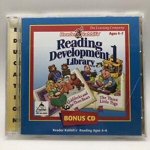Software PC Reader Rabbit's Reading Development Library 1 One 1998 Jewel