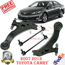 Front Lower Control Arms + Sway Bar Links 4 Pc For Toyota Camry Highlander Venza