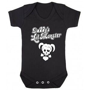 Daddys Little Monster Baby Romper Suit Bodysuit Romper (0-24 months)