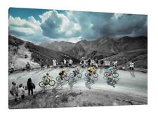 Tour de France 30x20 Inch Canvas Cycling Framed Picture Wall Art Print