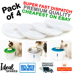 4x Premium Triple Action Water Filter for Catit Senses Round Water Fountain *UK*