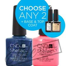 CND SHELLAC - 7.3ml - Any 2 Colours + Base + Top Coat + FREE CND Remover Wraps
