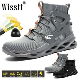 Mens Work Safety Durable Steel Toe Cap Sneakers Shoes Protective Mid Ankle Boots