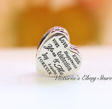 Authentic PANDORA Celebration Heart Sterling Silver Charm 792060 New Collection