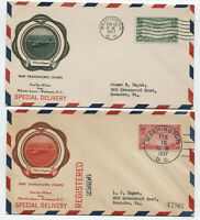 1937 China Clipper first day covers C21-22 Rice cachets [y5734]