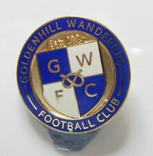 New listing Goldenhill Wanderers Football Club Enamel Badge - Non League Football Clubs -
