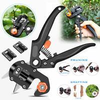 Pro Pruning Shears Garden Grafting Tool Set Kit Fruit Tree Scissor Cutting Tools