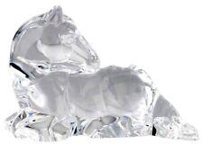 Rare STEUBEN Glass YEARLING | Crystal Animal Horse Sculpture Taf Lebel Schaefer