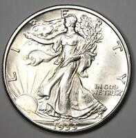 1933-S Walking Liberty Half Dollar 50C Coin - Choice BU (UNC MS) - Rare Date!