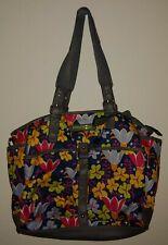 Lily Bloom Purse large habdbag tote bag purse floral blue