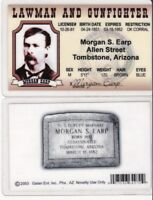 Morgan Earp Lawman and Gunfighter Tombstone Arizona AZ License fake id card