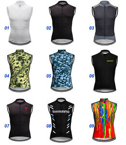 Thermal Cycling Vest Jersey Bicycle Bike MTB Shirt Team Clothing Motocross Top