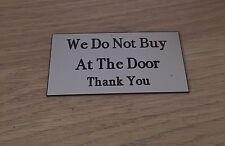 Nosotros no comprar en la Puerta Firmar