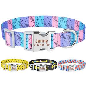 Personalised Dog Collar ID Tag Engraved Small Medium Large Boy Girl Puppy Collar