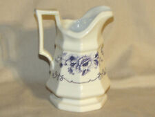 "Replica China Colonial Pitcher White & Blue Henry Ford Museum by Iriquois 6"" EXC"