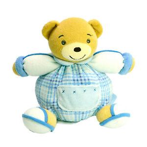 Kaloo Teddy Bear Baby Blue Squishy Washed & Clean Plush Soft Stuffed Toy 19cm