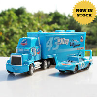 HOT! Pixar Cars NO.43 King & Dinoco Mack Truck 1:55 Diecast Toy Car Kids gift