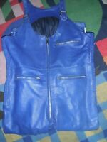 Leather motorcycle riding suit