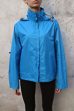 Murphy & Nye Ws Windbreaker Hooded Rain Jacket Waterproof Shiny Sky Blue Nylon L