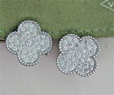 Van Cleef & Arpels Magic Alhambra 18k White Gold Diamond Earrings w/ COA