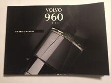 VOLVO 960 SERIES OWNERS MANUAL DRIVERS HANDBOOK 1994 PET/DIESEL Inc TURBO MODELS