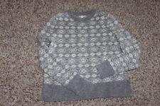 NWOT Gap Crazy Stripe Wool Blend Fair Isle Fairisle Sweater gray sz XS