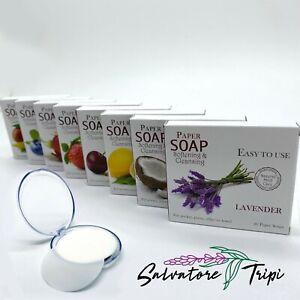 Hand Paper Soap Flake 20 Sheets Washing Foaming Slice Travel Portable Compact UK