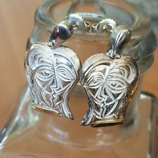 Vintage My Time By Anthony Quinn Lovers 925 Sterling 18k Artisan Earrings Signed