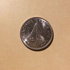 """Bahamas 25 Cents """"You Grade It"""" 1969 - Sailing Ship"""