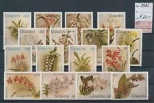 LM83694 Guyana 1985 flowers nature fine lot MNH cv 22 EUR