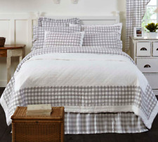GREY BUFFALO CHECK Full Queen QUILT : FARMHOUSE ANNIE GRAY COUNTRY PLAID