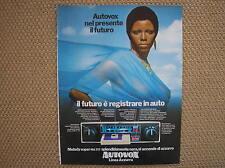 AUTORADIO AUTOVOX SUPER MA 777 MELODY 1972 PUBBLICITA ADVERTISING WERBUNG