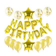 25pcs Golden Balloons Set Happy Birthday Balloons Birthday Party Balloons Kids
