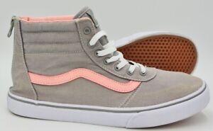 Vans Off The Wall Zip Mid Trainers 721278 Grey/Pink UK5/US6/EU38