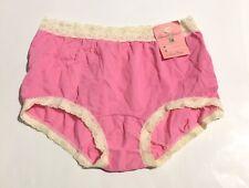 New listing Nwt Vtg Womens 6 Underwear 100% Nylon Lace Trim Pink By Greenco Maid