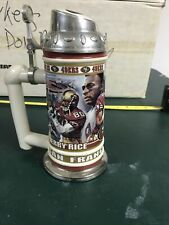 jerry rice Danbury Mint Stein Displayed
