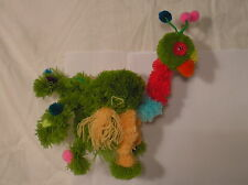 "puppet/marionette, PEACOCK, anti-tangle design.18 "" H, made from pompoms.boxed"