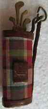 RARE PLAID GOLF BAG PENDANT-REMOVABLE GOLF CLUBS REVEAL A NAIL FILE