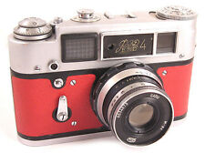 FED 4 Russian Leica Copy Camera INDUSTAR-61 Lens EXCELLENT RED