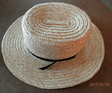AUTHENTIC AMISH MADE STRAW HAT NEW 7 1/8 AMERICAN MADE