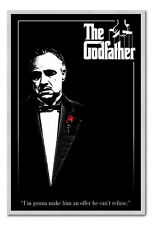 The Godfather Poster Silver Framed Ready To Hang Frame Free P&P