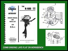 CLINTON K-505 6000 SERIES 5.5 H.P. OUTBOARD MOTOR OWNERS MANUAL AND PARTS LIST